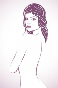 手绘时尚美女