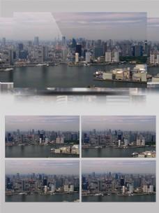 现代繁华发达城市东京铁塔地标建筑航拍