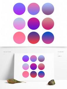 紫色高级渐变PS预设模板