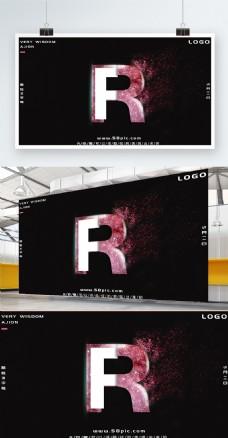 创意艺术字母R海报