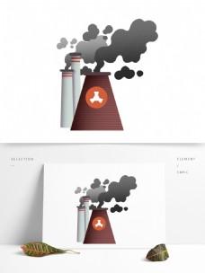 工业废气污染烟囱元素