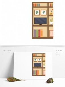 家居书柜电视元素