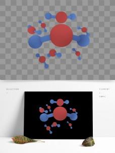 H2O水分子卡通元素