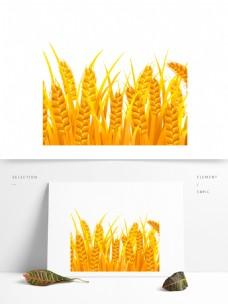 金色麦穗图案元素