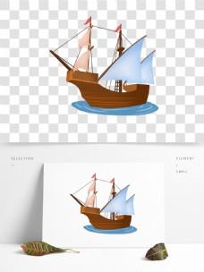 海上交通工具旅游元素帆船免抠png