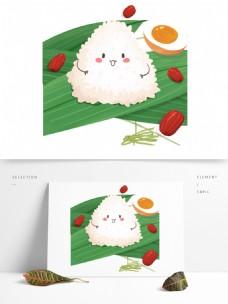 端午节咸蛋粽图案元素