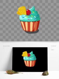 简约可爱矢量蛋糕杯