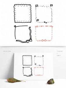 手绘可爱卡通边框手账素材