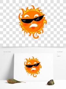 太阳公公夏天太阳卡通烈日