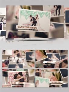 二维图片墙婚礼婚庆电子相册AE模板
