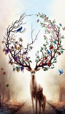 梦幻森林鹿