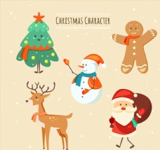 可爱圣诞节角色