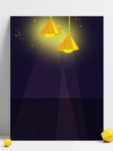 夏季吊灯荧火虫背景设计