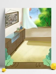夏季休闲家居背景设计
