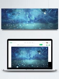 梦幻蓝色星空背景设计