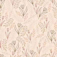 植物抽象线条叶子壁纸图案