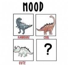 超可爱小恐龙四个漫画