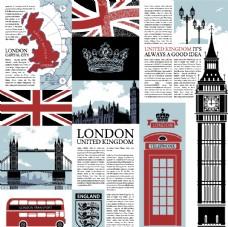 英伦风国旗图案