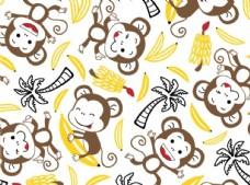 猴子香蕉满印