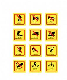 禁止标识标牌