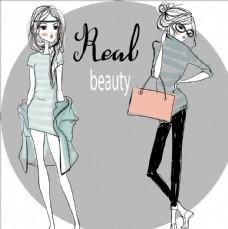 时尚购物女郎