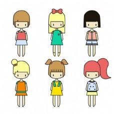 各种可爱的女孩