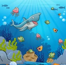 手绘海底世界