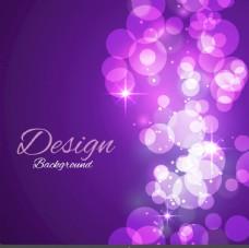 闪亮的紫色气泡背景