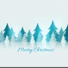 涂鸦圣诞树卡
