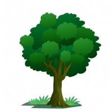 矢量卡通大树