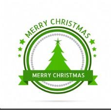 绿色圣诞标签