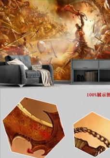 欧式现代游戏背景墙网吧壁纸