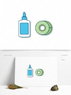 矢量手绘胶带胶水