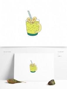 矢量手绘柠檬汁元素