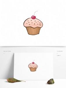 手绘卡通矢量蛋糕