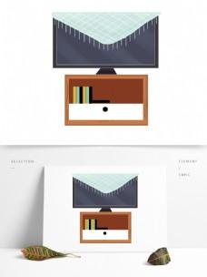家具室内电视柜子插画
