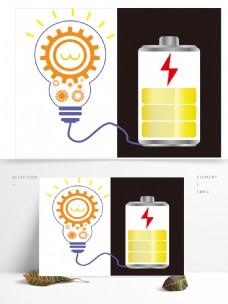 电池齿轮灯泡元素素材