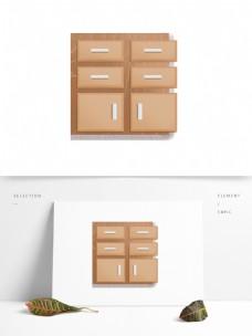 简约卡通储物柜设计