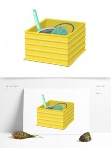 黄色装饰礼物箱子