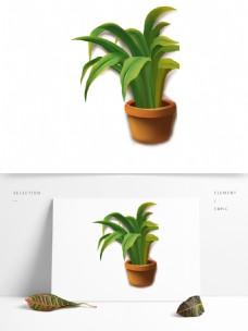 绿色清新花盆植物元素