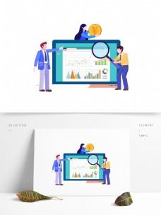 扁平化商务插画元素
