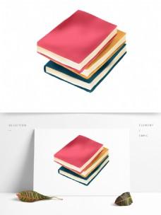 简约彩色书本装饰元素