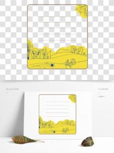 季节性花儿边框元素设计
