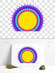 彩色圆环的背景框