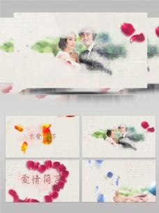 心形玫瑰花瓣婚庆电子相册