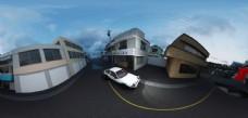 AE86街景卡通材质白模全景1