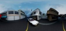 AE86街景卡通材质白模全景2