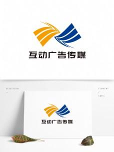 简约大气互动广告传媒LOGO设计