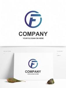 字母f英文logo标识