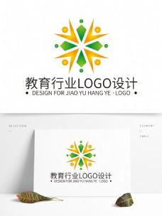 简约大气创意教育行业logo标志设计